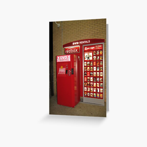 Redbox, red, box, display advertising Greeting Card