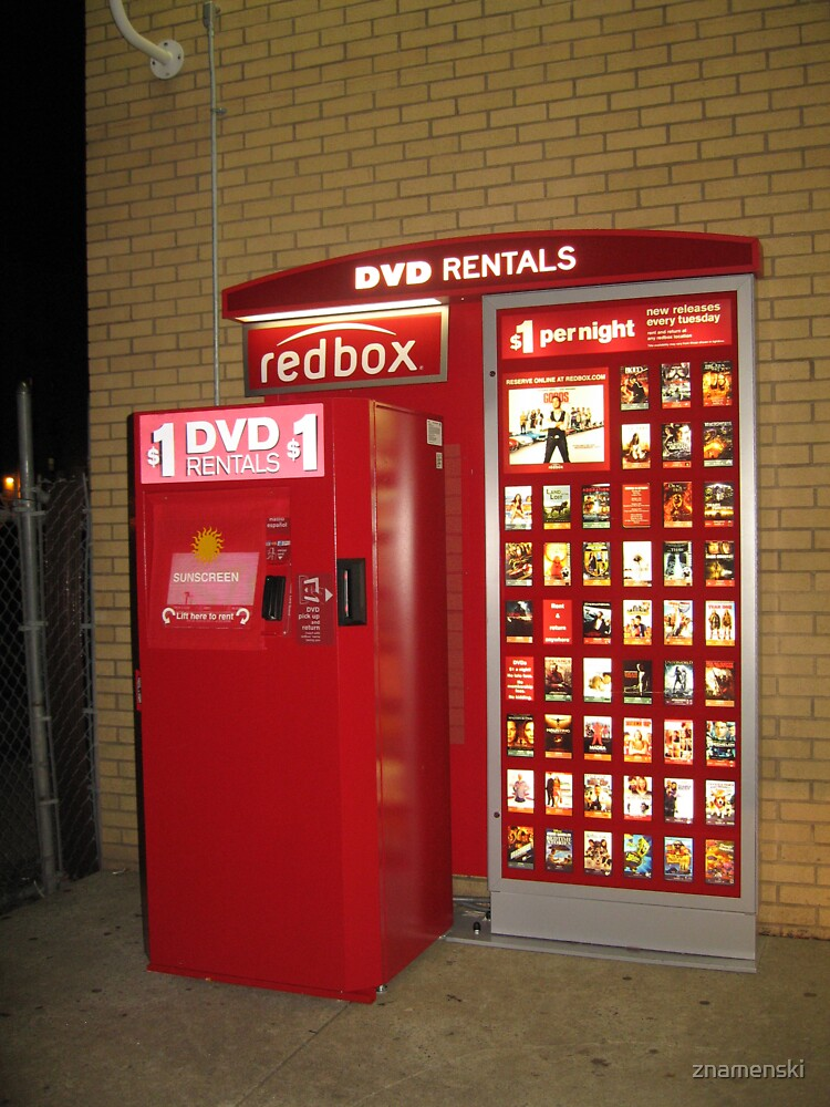 Redbox, red, box, display advertising by znamenski