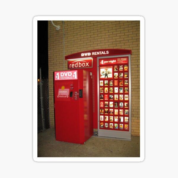 Redbox, red, box, display advertising Sticker