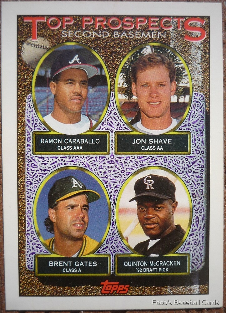 374 - Top Prospects – Second Basemen by Foob's Baseball Cards