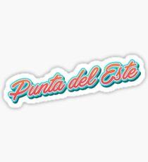 Punta del Este Typography Sticker