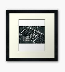 Classic Acoustic Guitar T-Shirt Framed Print