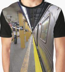 Rapid transit, Metro, Subway, New York, Manhattan, Brooklyn, New York City, architecture, street, building, tree, car,   Graphic T-Shirt