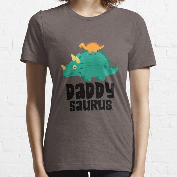 Mens Dinosaur Shirt Daddy Saurus Triceratops TShirt Gift For Dad Essential T-Shirt