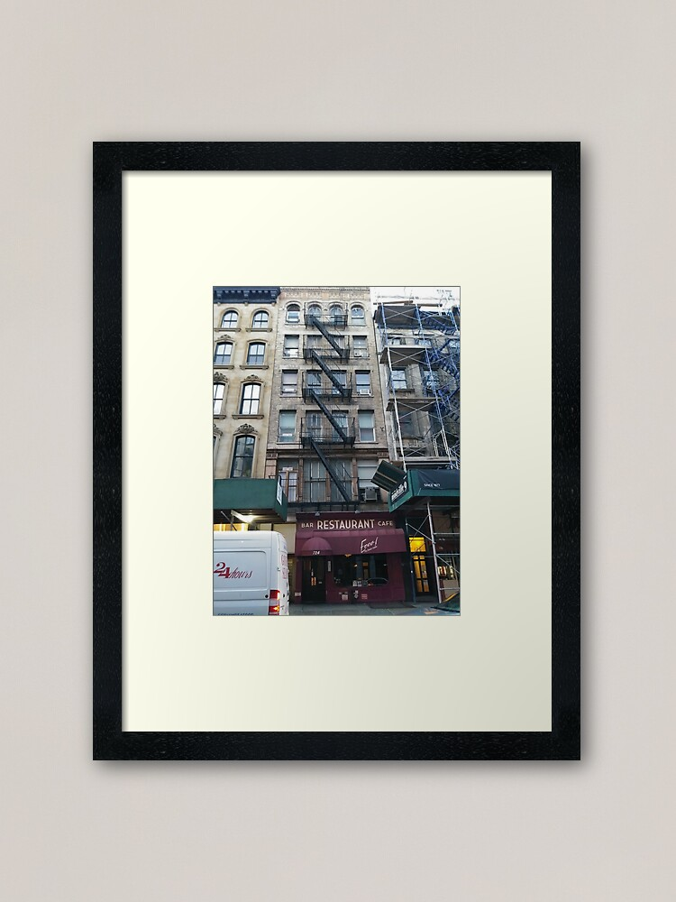 Alternate view of Apartment, Architecture, New York, Manhattan, Brooklyn, New York City, architecture, street, building, tree, car,   Framed Art Print