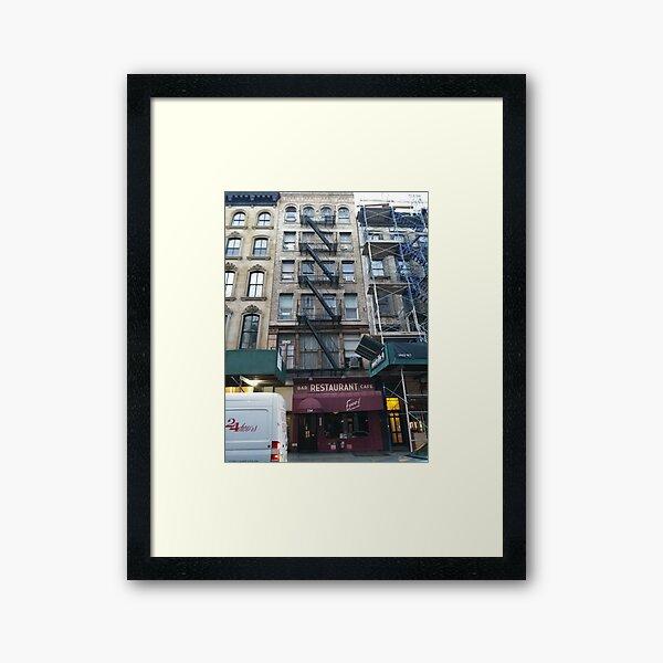 Apartment, Architecture, New York, Manhattan, Brooklyn, New York City, architecture, street, building, tree, car,   Framed Art Print