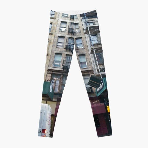 Apartment, Architecture, New York, Manhattan, Brooklyn, New York City, architecture, street, building, tree, car,   Leggings