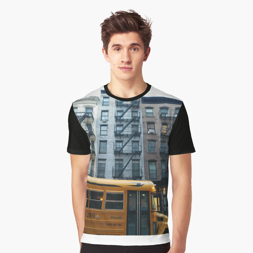 Architecture, New York, Manhattan, Brooklyn, New York City, architecture, street, building, tree, car,   Graphic T-Shirt