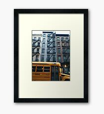 Architecture, New York, Manhattan, Brooklyn, New York City, architecture, street, building, tree, car,   Framed Print