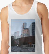 Metropolitan area, New York, Manhattan, Brooklyn, New York City, architecture, street, building, tree, car,   Tank Top