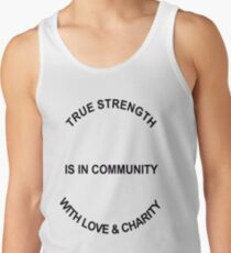 True Strength (Black Writing) Men's Tank Top