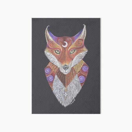 Fox Totem Art Board Print