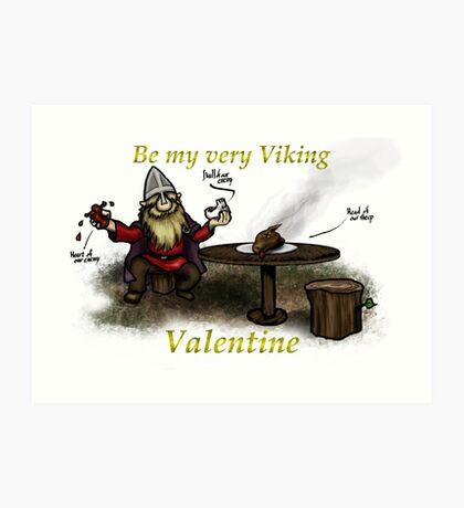 Very Viking Valentine 1 Art Print