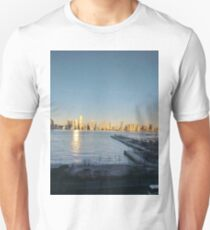 Cityscape, Jersey City, New York, Manhattan, Brooklyn, New York City, architecture, street, building, tree, car,   Unisex T-Shirt