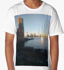 Metropolitan area, Jersey City, New York, Manhattan, Brooklyn, New York City, architecture, street, building, tree, car,   Long T-Shirt