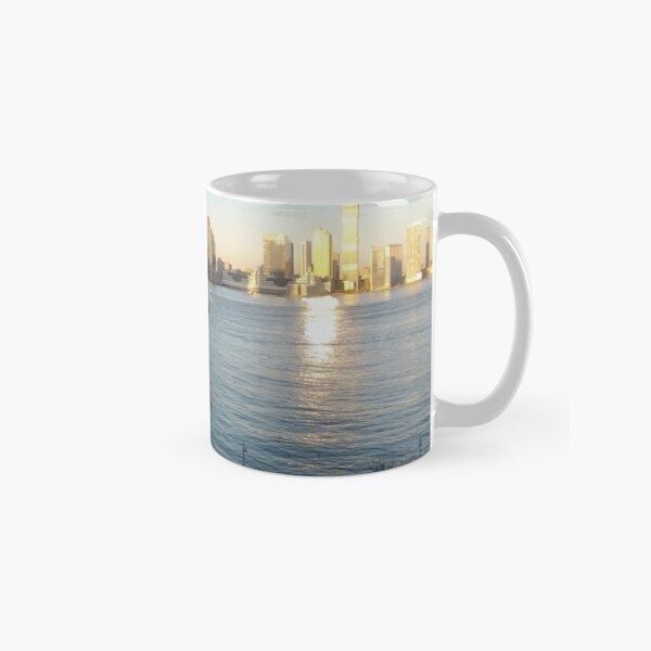 Metropolitan area, Jersey City, New York, Manhattan, Brooklyn, New York City, architecture, street, building, tree, car,   Classic Mug