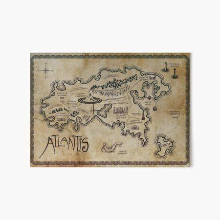 Map of Atlantis Art Board Print