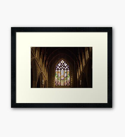 Stained Glass—St David's Cathedral Hobart Framed Print