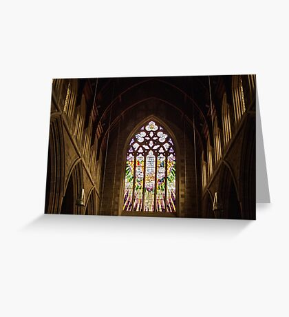 Stained Glass—St David's Cathedral Hobart Greeting Card