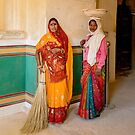Workers in Amer Fort 02 by Werner Padarin