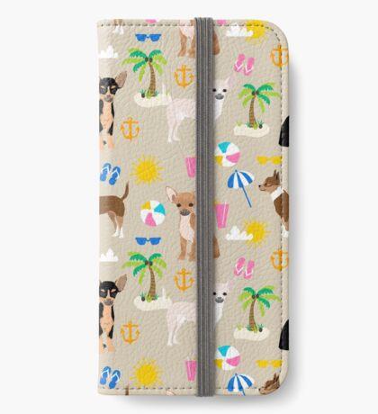 Chihuahua beach summer tropical cute chihuahuas dog gifts iPhone Wallet