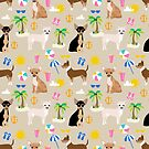 Chihuahua beach summer tropical cute chihuahuas dog gifts by PetFriendly