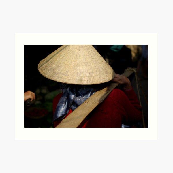 Vietnam Market Lady Art Print