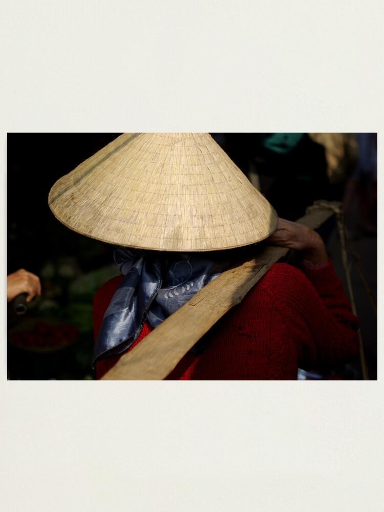 Alternate view of Vietnam Market Lady Photographic Print
