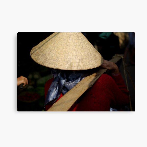 Vietnam Market Lady Canvas Print