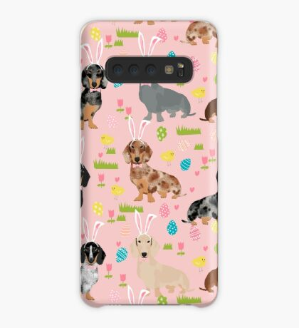 Dachshund easter spring dog breed pet costume easter bunny doxie Case/Skin for Samsung Galaxy
