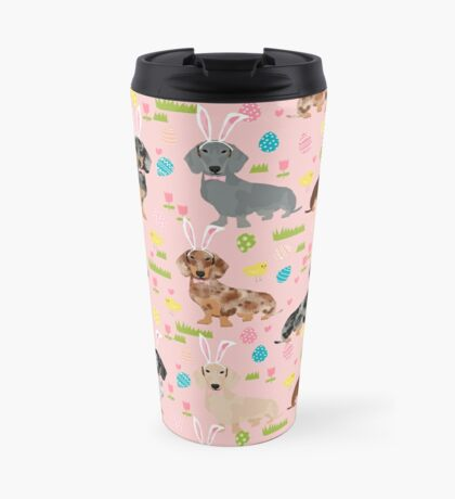 Dachshund easter spring dog breed pet costume easter bunny doxie Travel Mug