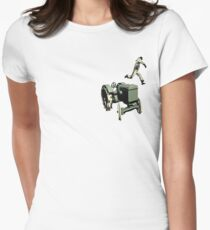 the 100 meter tractor jump edit Womens Fitted T-Shirt