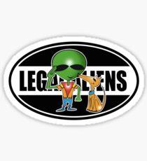 legal aliens Sticker