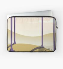 Derbyshire England rail poster Laptop Sleeve