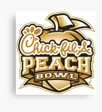 chick fil a peach bowl Canvas Print
