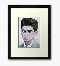FRANZ KAFKA - watercolor portrait Framed Print