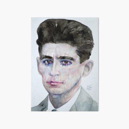 FRANZ KAFKA - watercolor portrait Art Board Print