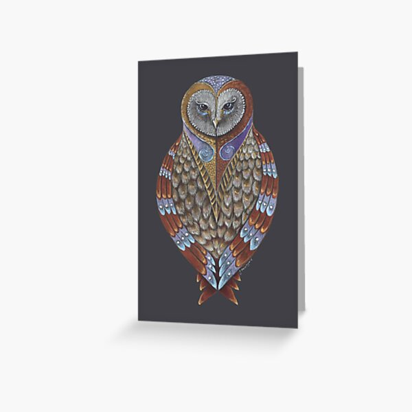 Owl Totem Greeting Card