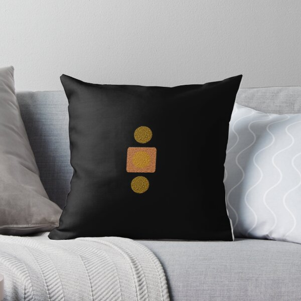 Copper and Gold Throw Pillow