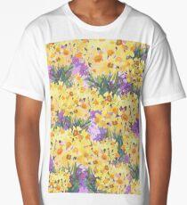 Yellow Daffodil Garden Long T-Shirt