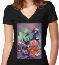 Artemis Rising Women's Fitted V-Neck T-Shirt