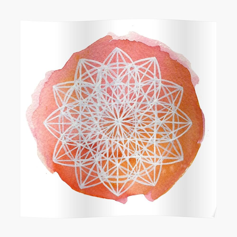 Heilige Geometrie Poster