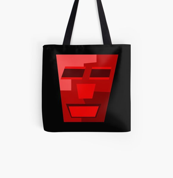 Red Wine (Facemadics colorful contemporary abstract face) All Over Print Tote Bag