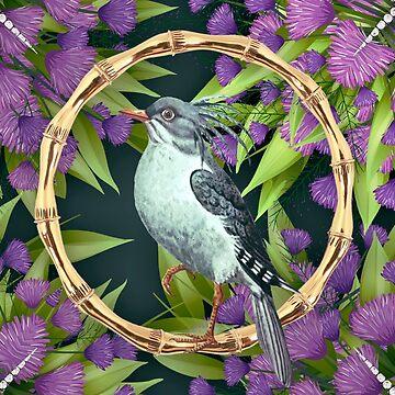 Wallpaper pattern design Bling Birds 12 Edouard Artus by EdouardArtus