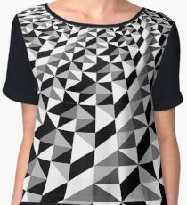 Black and white optical illusion triangle Chiffon Top