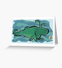 Easter Dunkleosteus Greeting Card