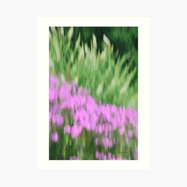 Abstract Purple and Green Flowers Photography - Summer Garden Art Print