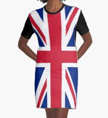 Union Jack Graphic T-Shirt Dress