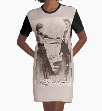 Bonnie and Clyde I Graphic T-Shirt Dress