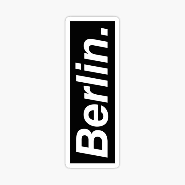 Berlin Oblique Sticker
